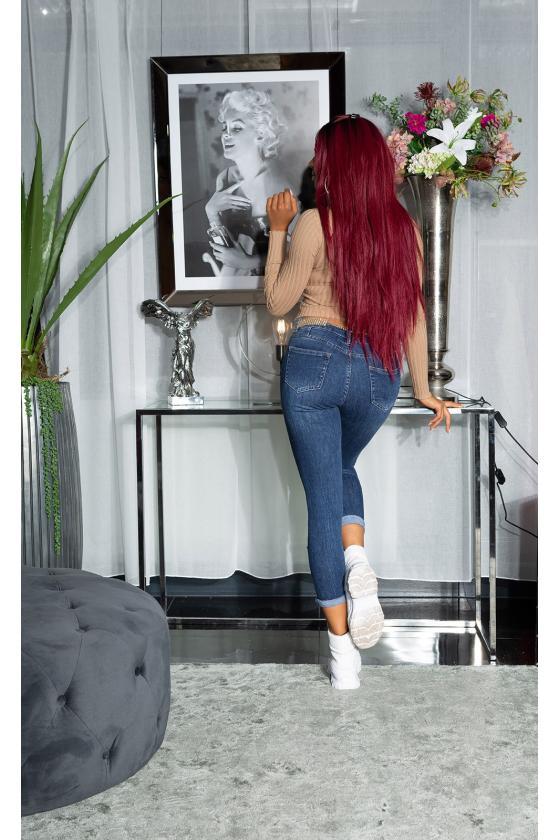 Juodos spalvos kelnės su push up efektu