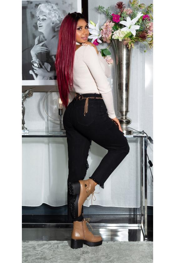Juodos spalvos kelnės su push up efektu_183996