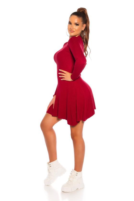 Žalios spalvos oversize modelio suknelė 152588 Makadamia