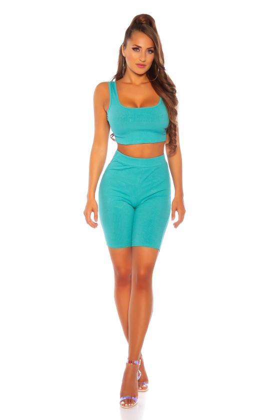 Neoninės rožinės spalvos marškinėliai trumpomis rankovėmis_186171