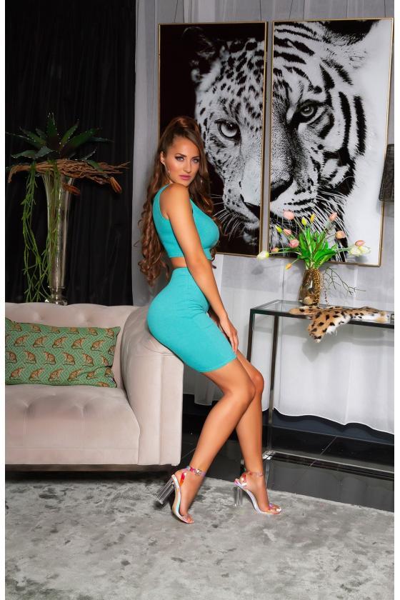 Žalios spalvos marškinėliai trumpomis rankovėmis