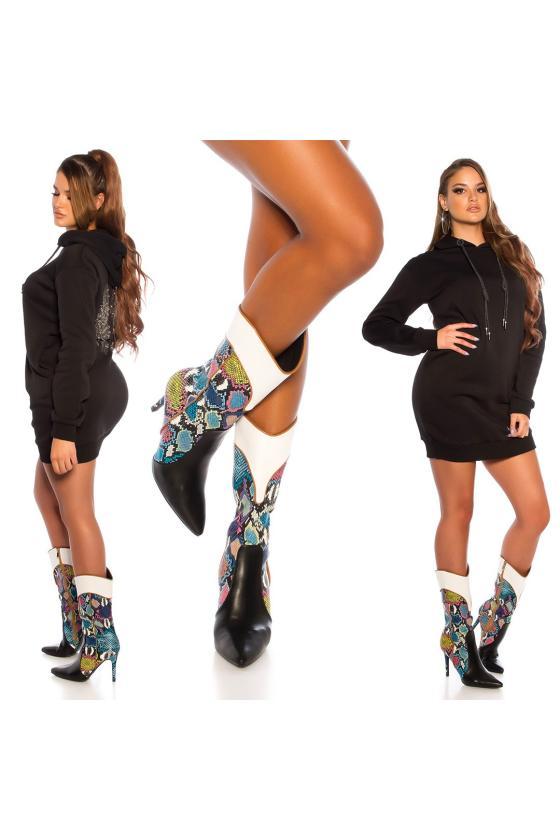 Juodos spalvos mini suknelė