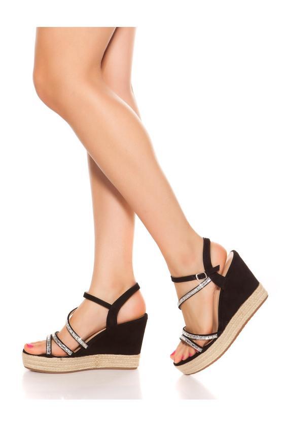 Juodos spalvos mini suknelė_186442
