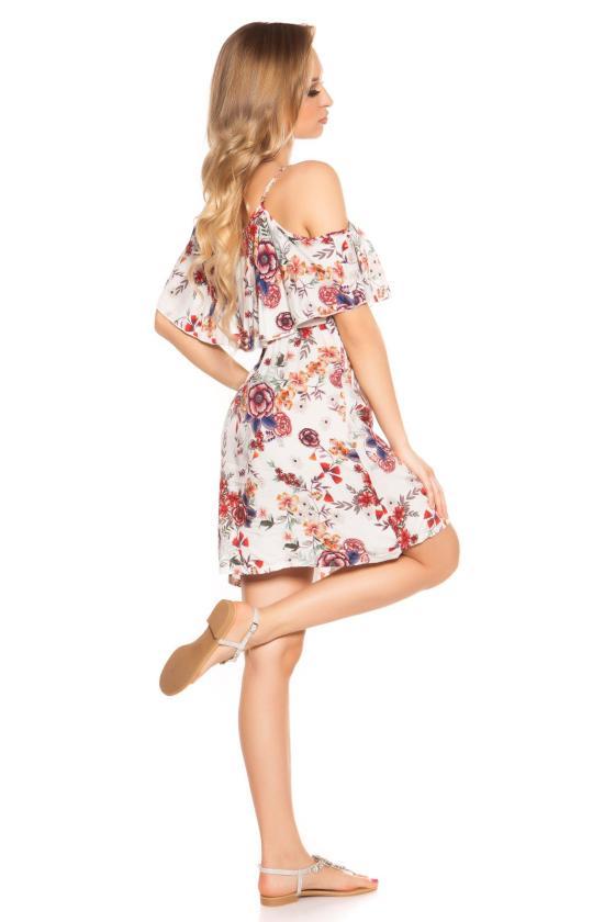 Smėlio spalvos viskozinė suknelė_186447