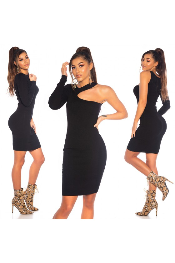Juodos spalvos viskozinė suknelė_186508