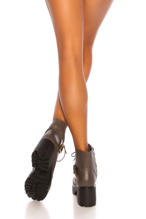 Pilkos spalvos viskozinė suknelė