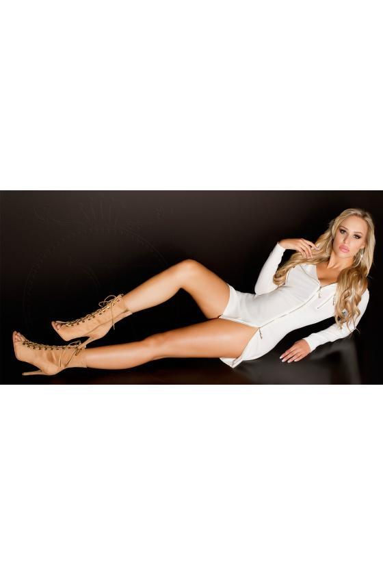 Baltos spalvos viskozinė suknelė_186520