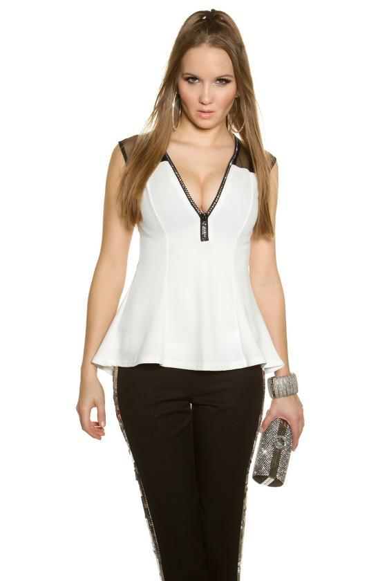 Baltos spalvos viskozinė suknelė