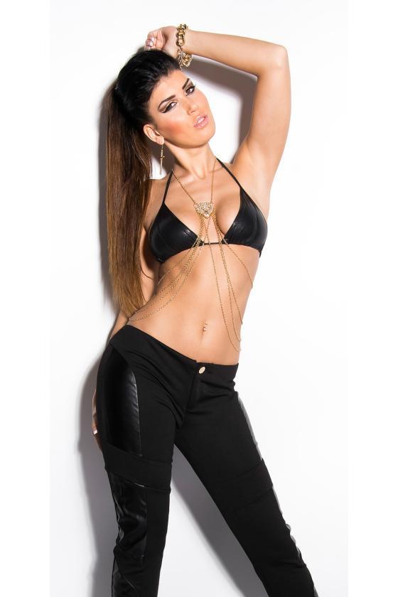 Prabangi juodos spalvos suknelė GODDESS_186763