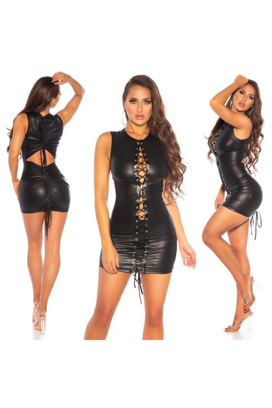 Purvinos rožinės spalvos suknelė su raukiniais_186925