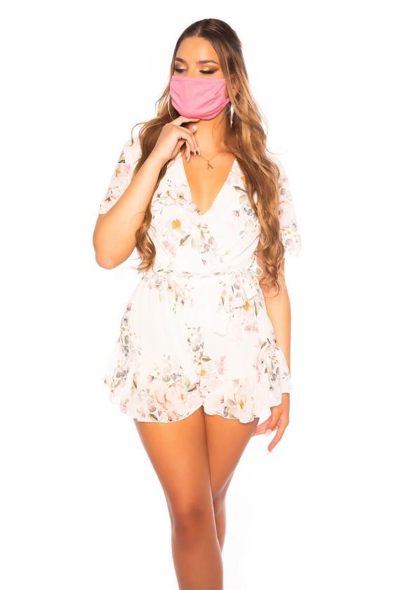 Mėtų spalvos laisvalaikio suknelė su kišenėmis_187504