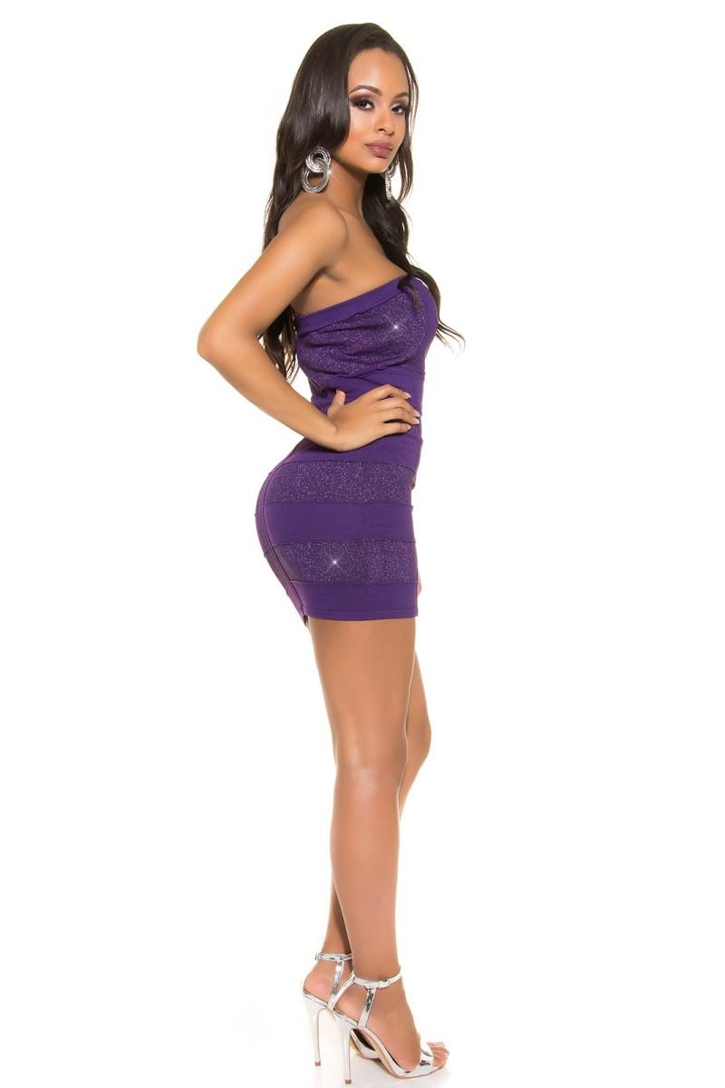 Tamsiai mėlynos spalvos asimetriška suknelė_188019