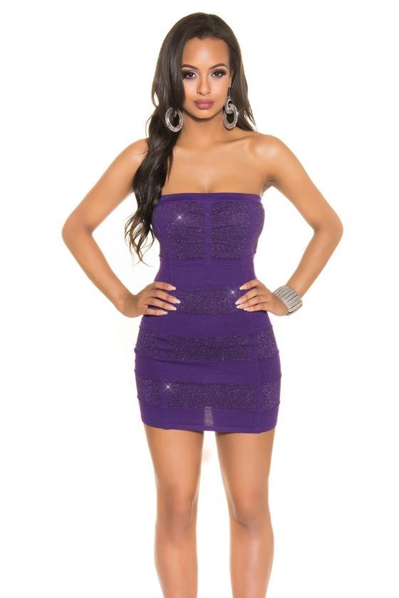 Tamsiai mėlynos spalvos asimetriška suknelė