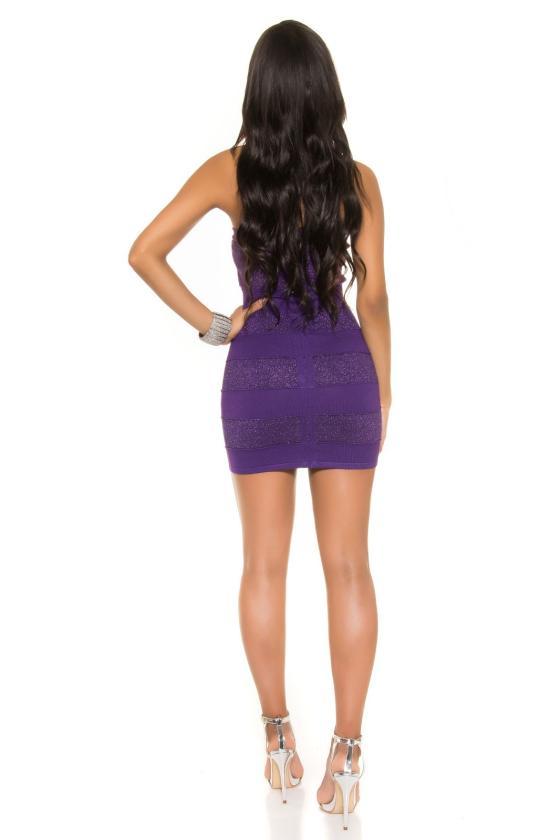 Tamsiai mėlynos spalvos asimetriška suknelė_188022