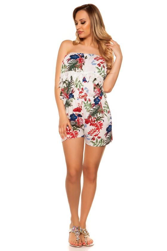 Raudonos spalvos laisvalaikio suknelė su gobtuvu
