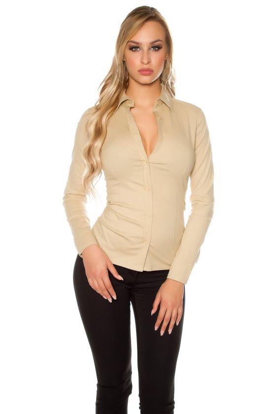 Juodos spalvos šlapio efekto kelnės su iškirpimais