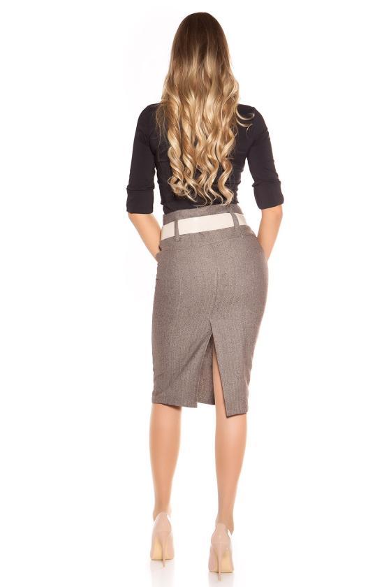 Raudonos spalvos šlapio efekto suknelė_191120