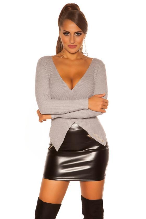Juodos spalvos latekso imitacijos suknelė_191986