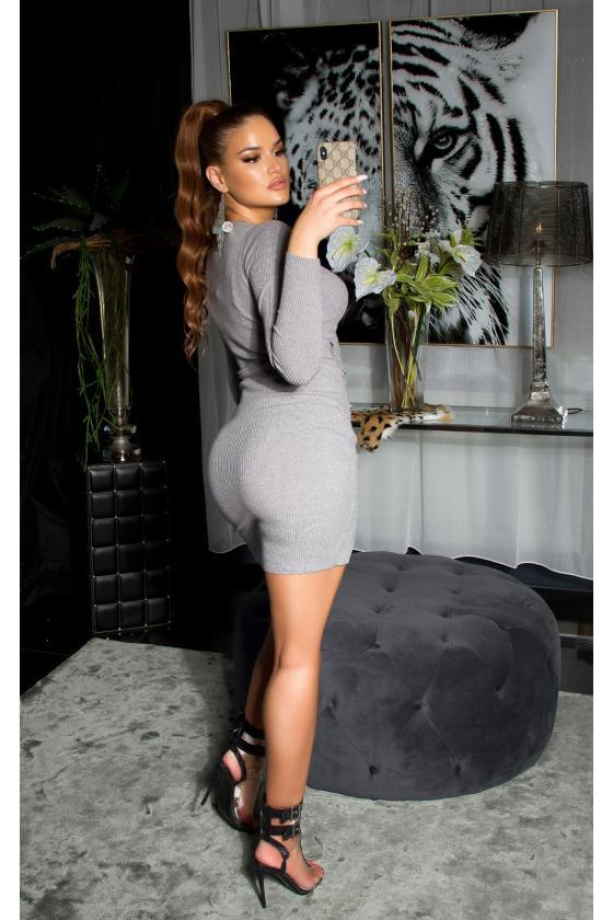 Kapučino spalvos medvilninė suknelė
