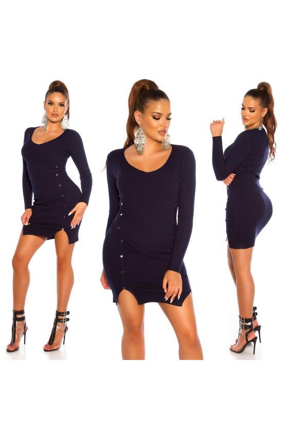 Violetinės spalvos medvilninė suknelė_192842