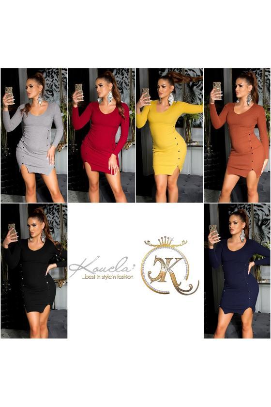 Violetinės spalvos medvilninė suknelė