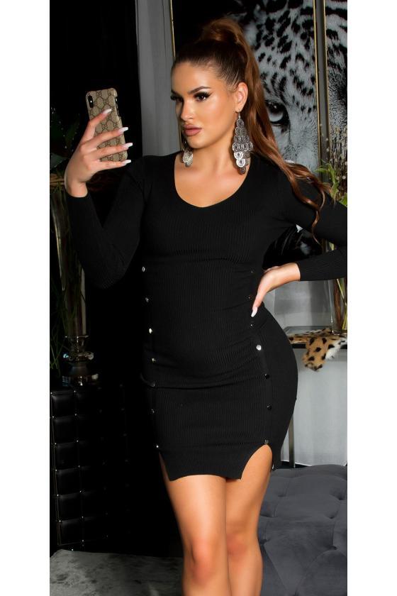 Violetinės spalvos medvilninė suknelė_192844