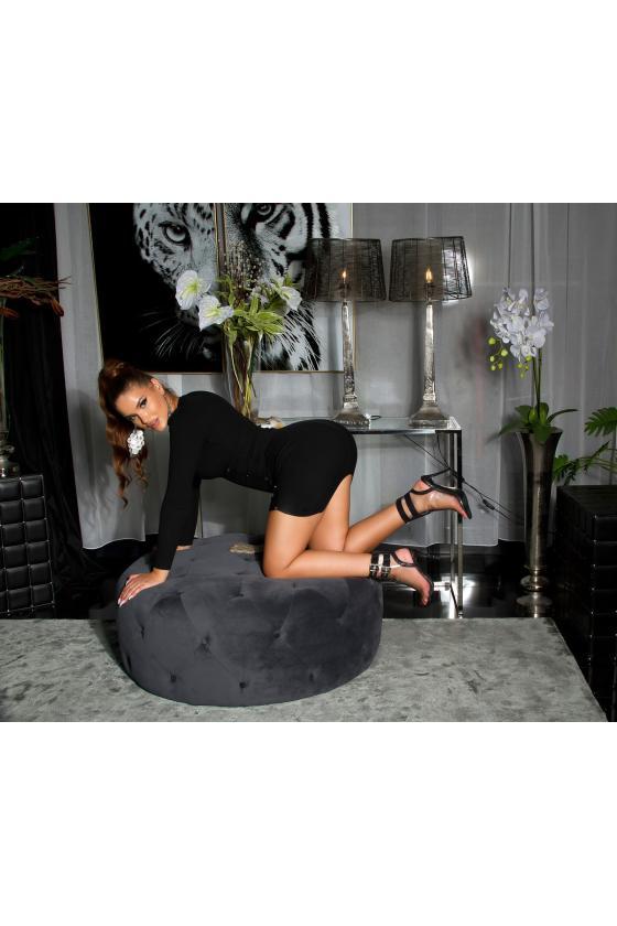 Juodos spalvos medvilninė suknelė_192848