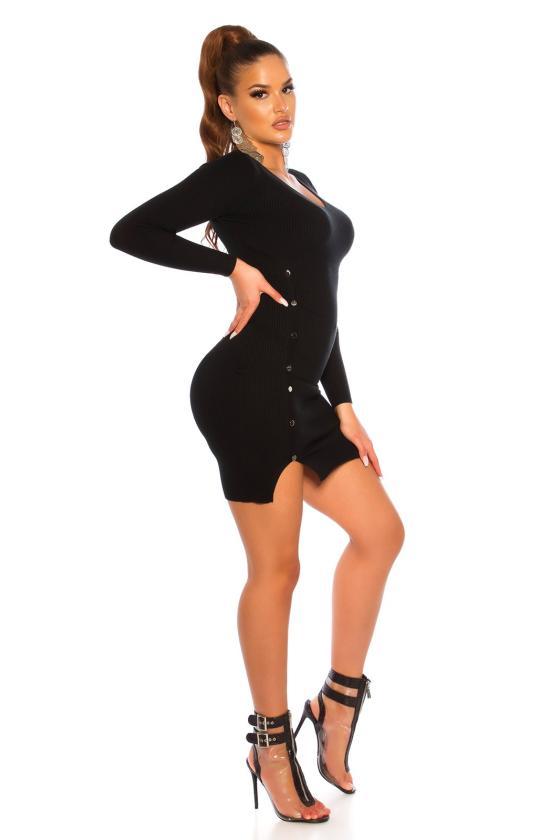 Juodos spalvos medvilninė suknelė