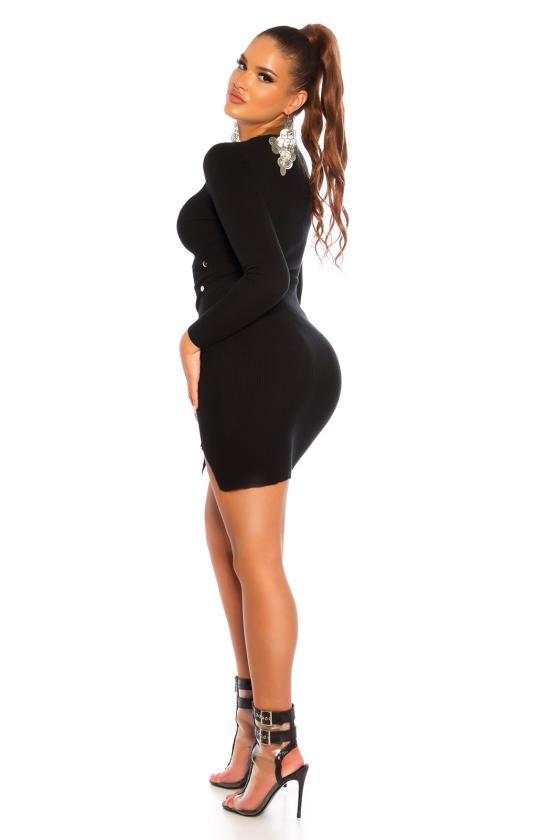Juodos spalvos medvilninė suknelė_192850