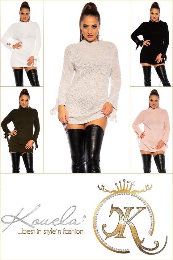 Smėlio spalvos suknelė dekoruota sparnų aplikacijomis_192892