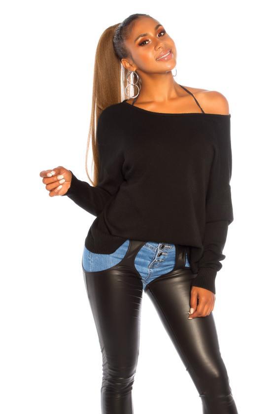 Juodos spalvos gėlėta suknelė_193005