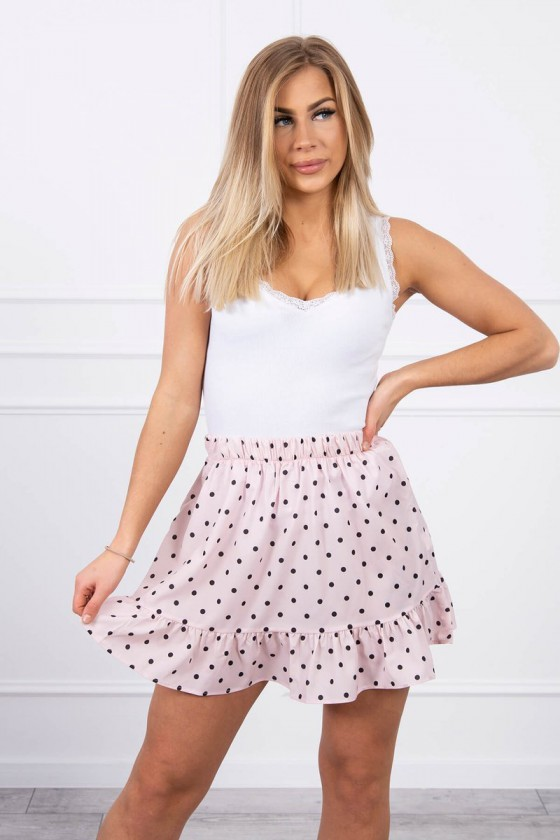 Rausvos spalvos sijonas