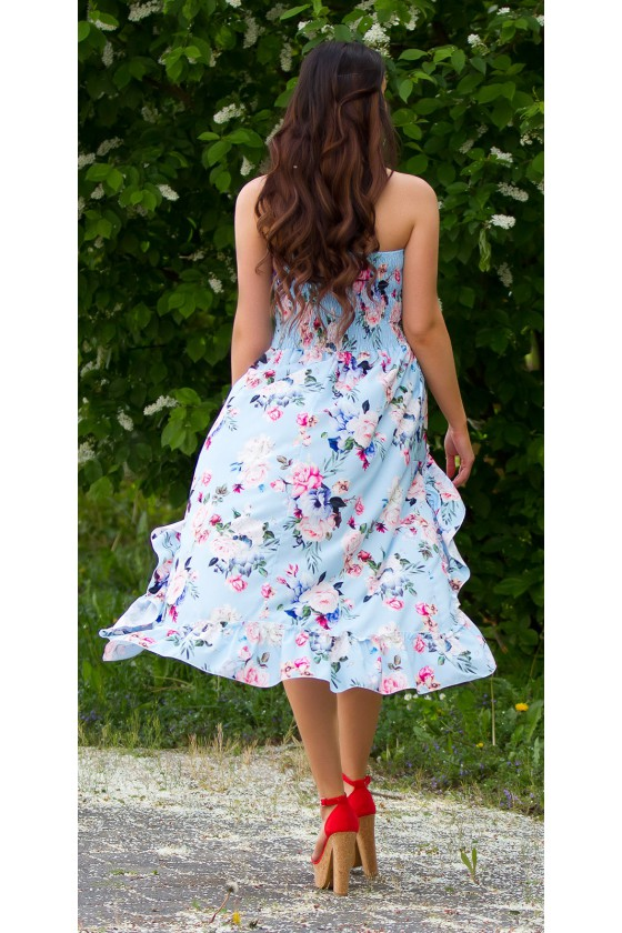 Turkio spalvos latina stiliaus suknelė 2in1_193649