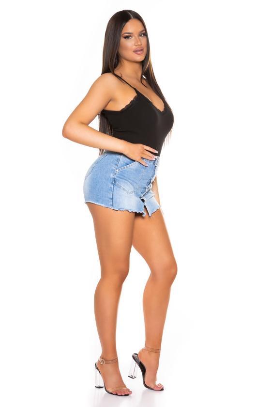Mėlynos spalvos šilko imitacijos  suknelė