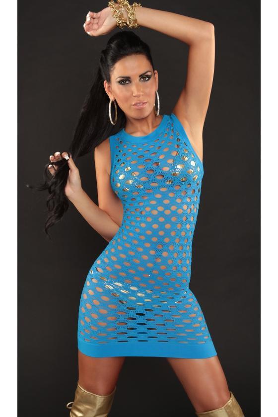 Mėlynos spalvos suknelė su raštais_194716