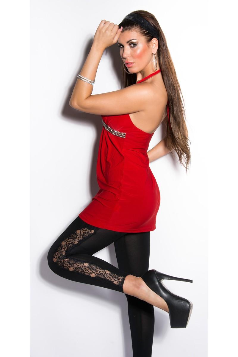 Baltas tiulio imitacijos sijonas