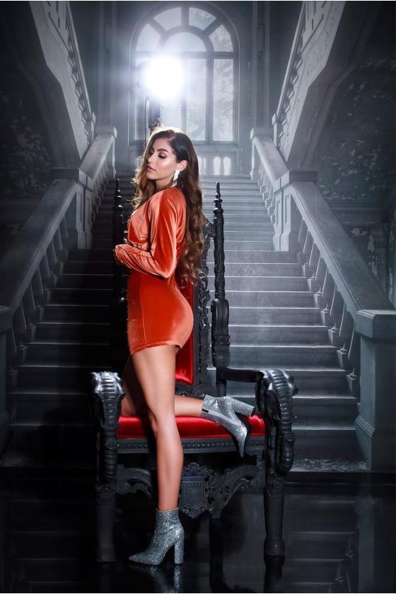Raudonos spalvos seksuali MULTIWAY suknelė_194900