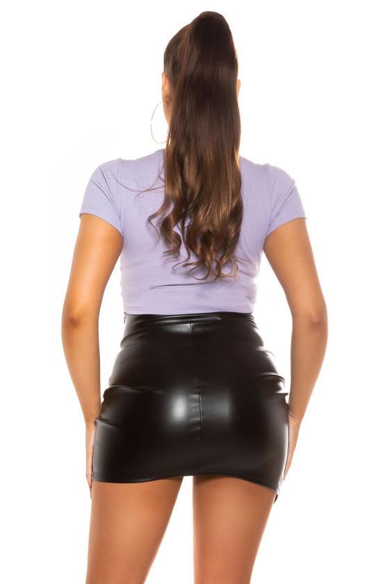 Raudonos spalvos ilga suknelė su praskiepu_196381
