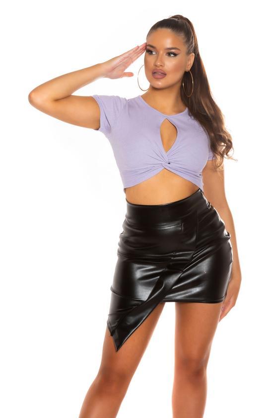 Raudonos spalvos ilga suknelė su praskiepu_196383