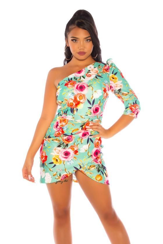 Juodos spalvos gėlėta suknelė_196746