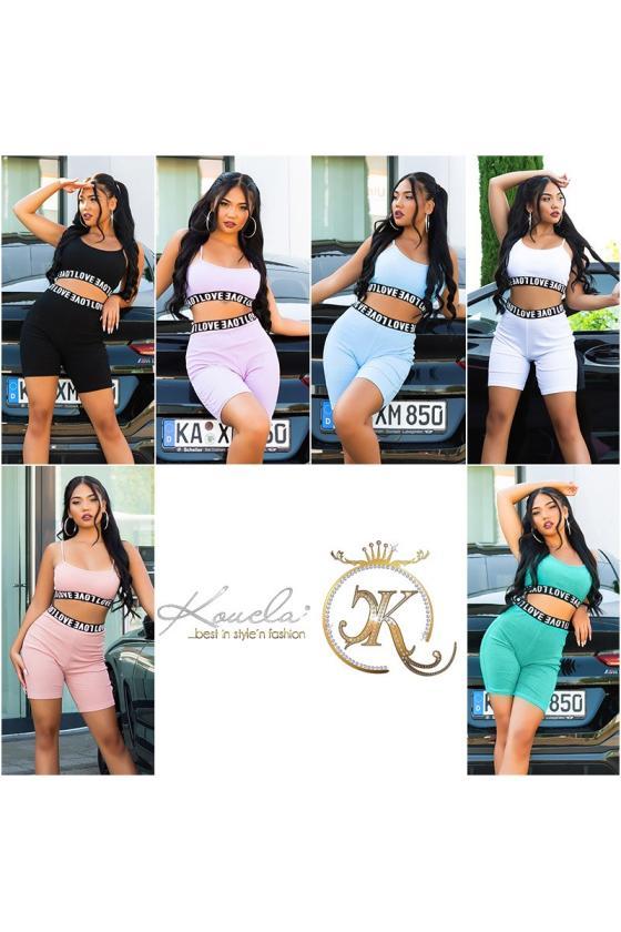 Žalios spalvos megztinis su kiauriaraščiu_196936