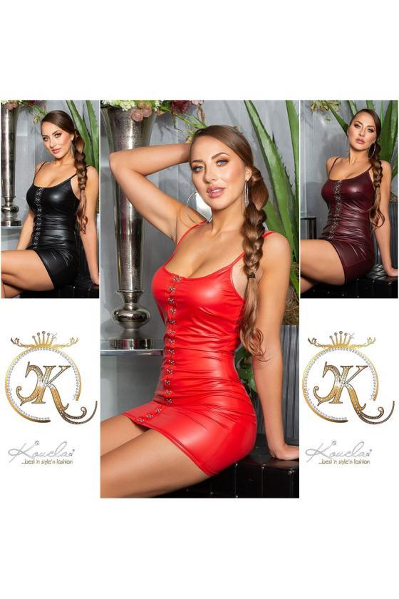 Orginalios odos imitacijos kelnės su iškirpimais šonuose_197313