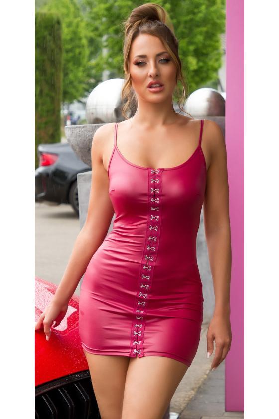 Orginalios odos imitacijos kelnės su iškirpimais šonuose