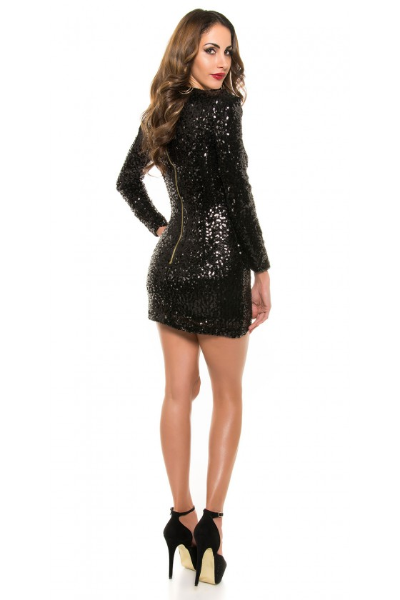 Juodos spalvos suknelė su žvyneliais_197646