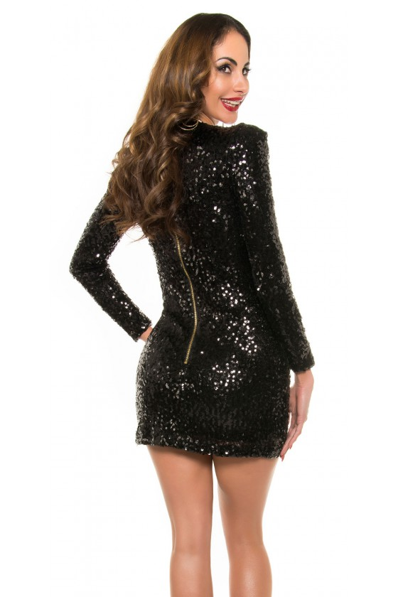 Juodos spalvos suknelė su žvyneliais_197647