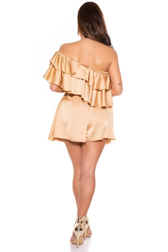 Žydros spalvos ilga satino suknelė_199834