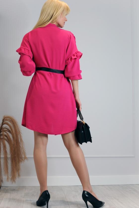 Raudonos spalvos suknelė su užtrauktuku_200585