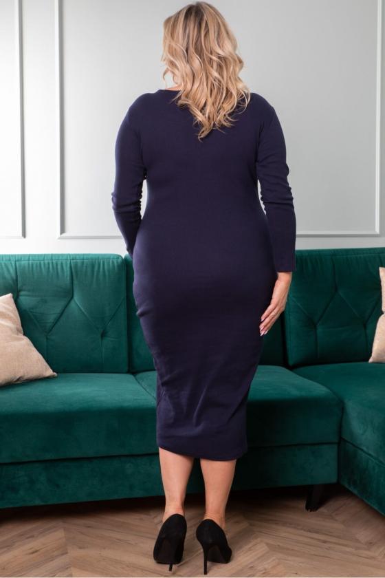 Raudona laisvalaikio suknelė su kišenėmis_200813