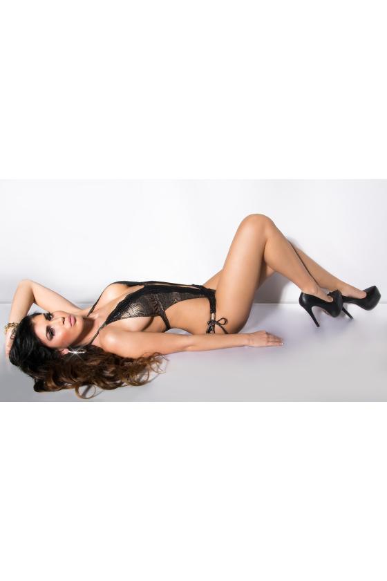 Elegantiška juoda vidutinio ilgio suknelė_201250