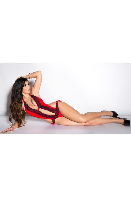 Elegantiška raudona vidutinio ilgio suknelė_201260